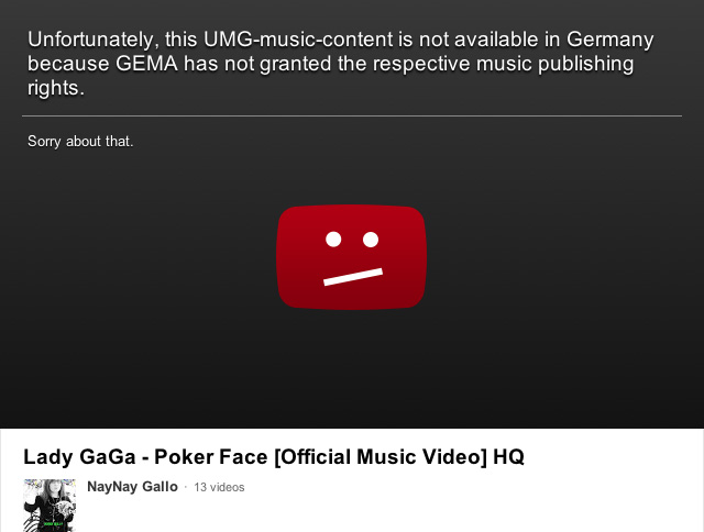 Lady Gaga music video censored in Germany